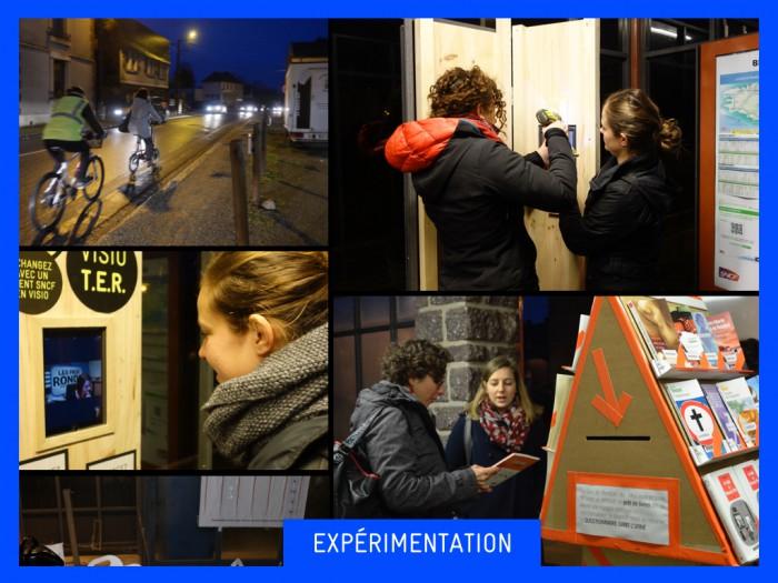 Les expérimentations au cours de la résidence Gares BZH de La 27e Région